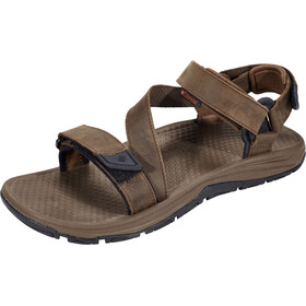 Columbia Big Water Leather Sandals Men tobacco/super sonic